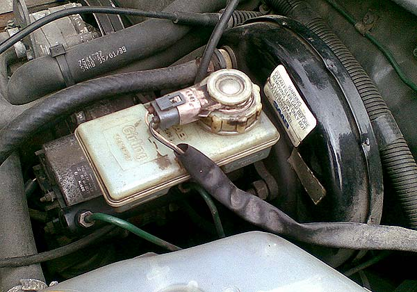The old master cylinder