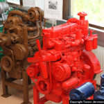 Old Valmet tractor engines at the Linnavuori museum