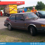 Refuelling car and drivers - some truckstop somewhere in Germany.