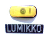 Lumikko badge from a truck refrigerator unit.
