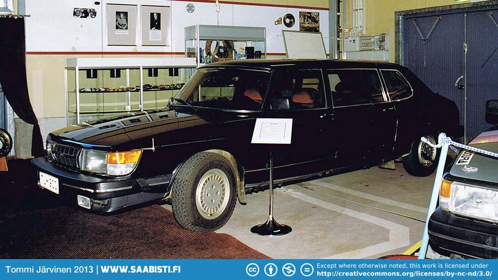 The limousine is on display at the Uusikaupunki car museum.