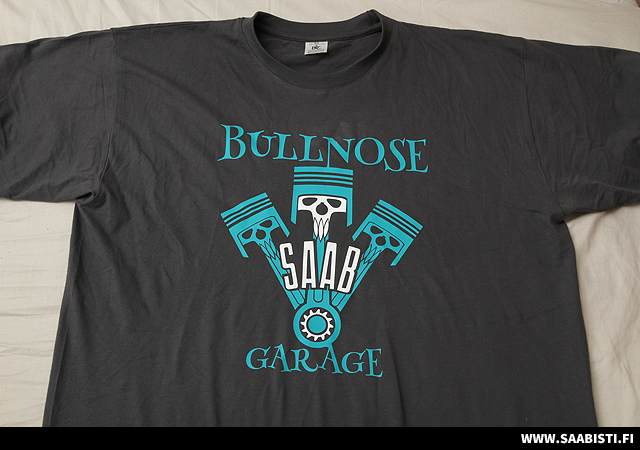 Bullnose SAAB Garage T-Shirts for sale