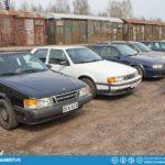 Saab 9000 row.