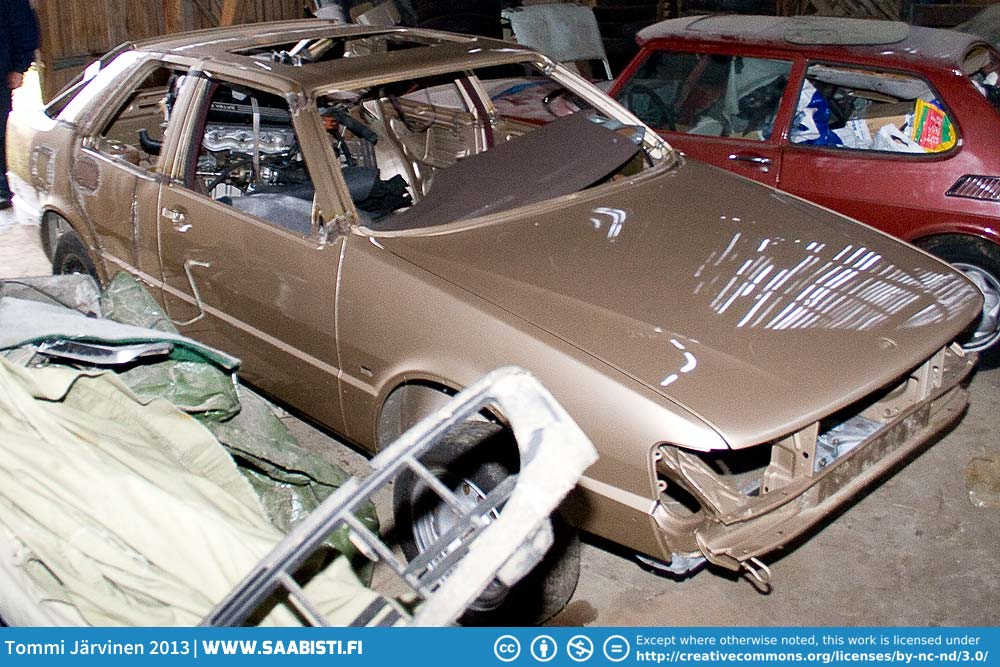 The prototype Saab 9000 Turbo M in storage around 2009.