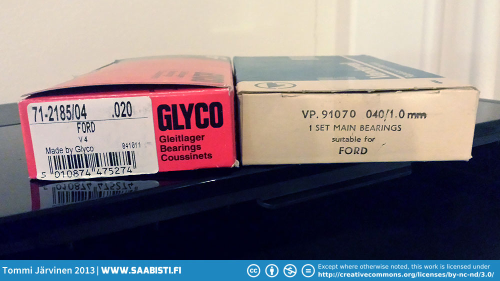 Crankshaft main bearings and connectin rod bearings from Veteranshop.se