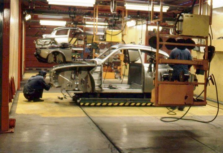 Saab 96 V4 production line Uusikaupunki