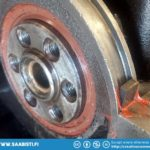 Crankshaft oil seal in. The small oil pan seal wedges are often missing an the space is just filled with gasket glue.