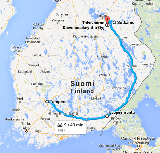 My route - a total of little over 1500 km.