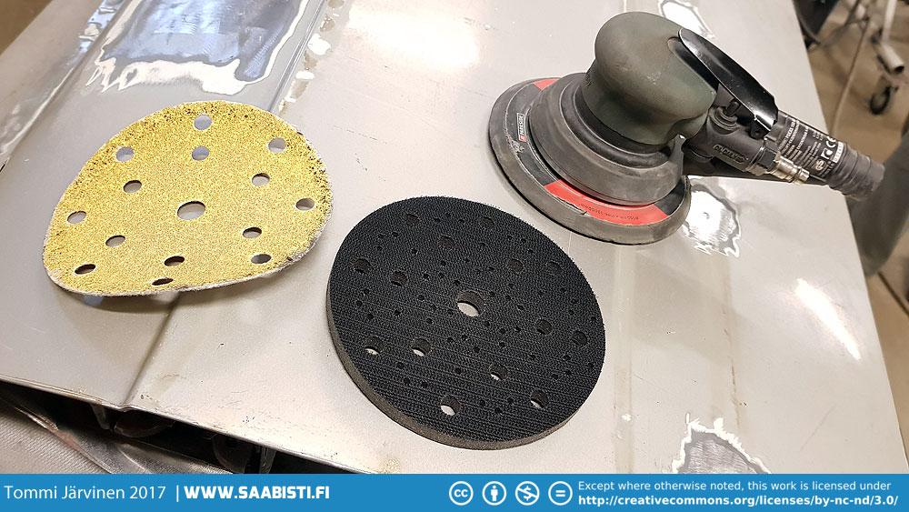 Orbital sander interface pad